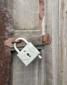 Wicket Door With A Padlock