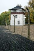 Camp guard tower in Buchenwald, Germany