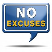 foto of apologize  - No excuses sign or icon apologies - JPG