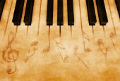 pic of music note  - Abstract music background  - JPG