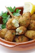 stock photo of cod  - salt cod croquettes - JPG