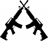 foto of ar-15  - a vector image of crossed m - JPG