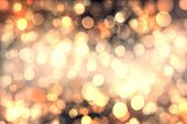 foto of champagne color  - Abstract bokeh background of candlelights for Christmas - JPG