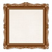 picture of carving  - Vintage Picture Frame Isolated on White Background - JPG