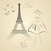 stock photo of french curves  - Eiffel tower - JPG
