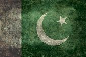 stock photo of pakistani flag  - The National flag of Pakistan - JPG