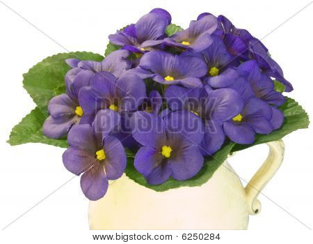 Violets In An Old Jug