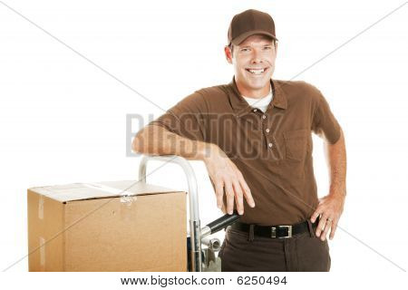 Casual Delivery Guy Or Mover