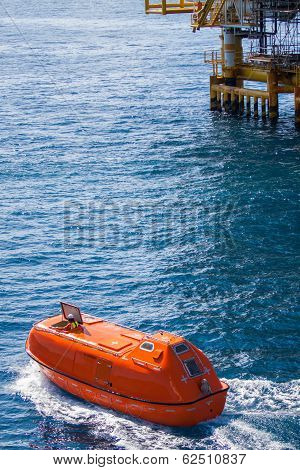 Lifeboat or rescue boat in offshore, Safety standard in offshore oil and gas