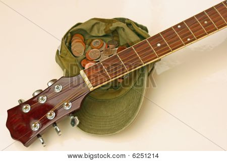 guitar,cap and change
