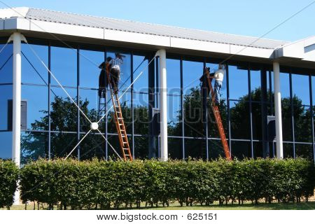 Two Window Cleaners