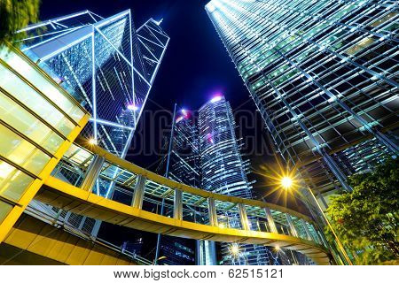 Commercial district in Hong Kong