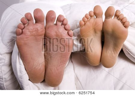 Man And Woman Feet