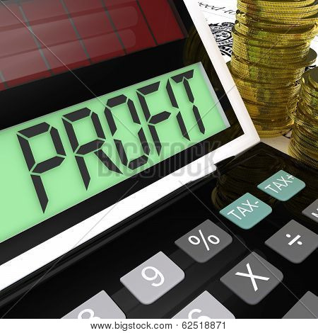Profit Calculator Shows Surplus Earnings And Returns