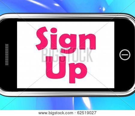 Sign Up On Phone Shows Register Online