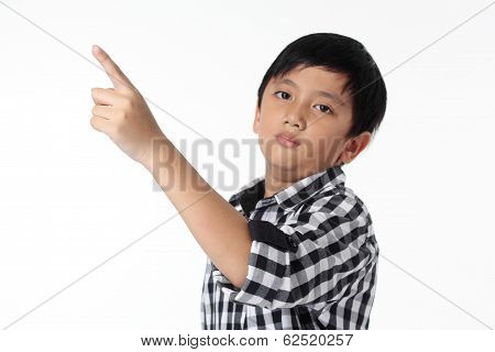 Asian Boy Pointing