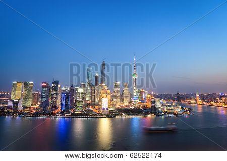 Beautiful Shanghai In Nightfall