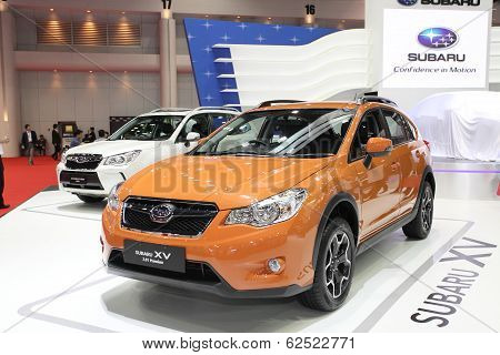 Bangkok - March 25 :subaru Xv 2.4I Premium Car On Display At The 35Th Bangkok International Motor Sh