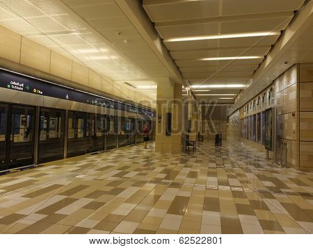 Al Ras Metro Station in Dubai, UAE