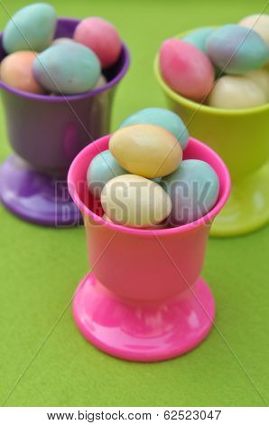Easter Eggs In Eggcups