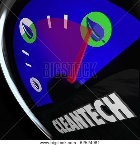 Cleantech Energy Power Gauge Natural Energy Renewable Resources