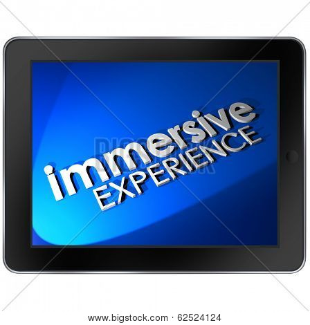 Immersive Experience Software Program Tablet Computer