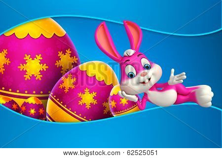 Easter Bunny with big egg