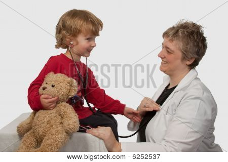 Child With Lady Doctor