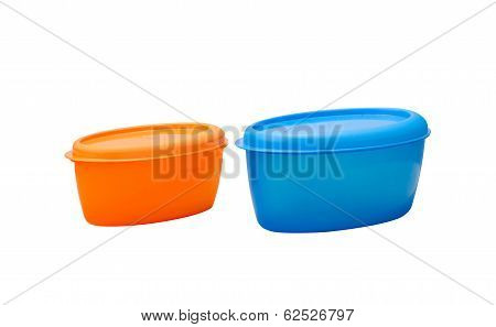 Two size of plastic boxes