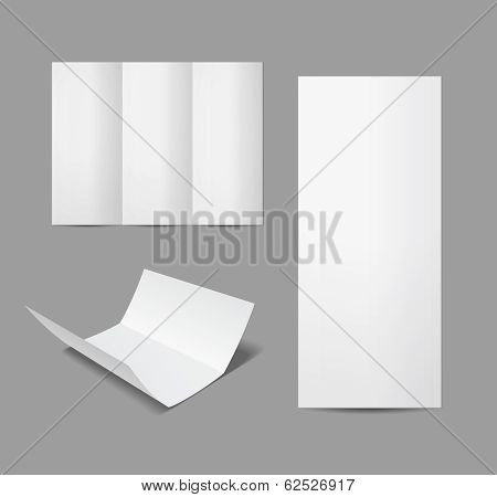 empty leaflet or brochure design template