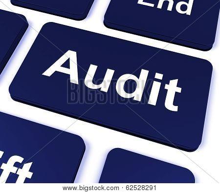 Audit Key Shows Auditor Validation Or Inspection