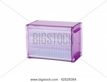 purple plastic cd or dvd box