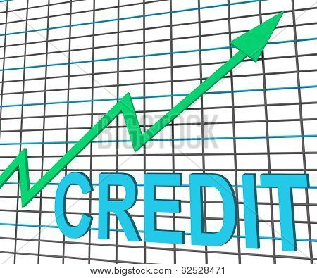 Credit Graph Chart Shows Buy Increase Grow Debt