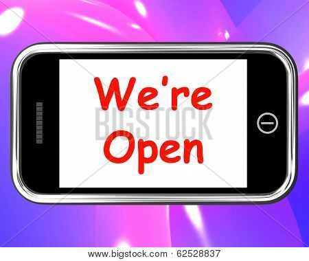 We're Open On Phone Shows New Store Launch