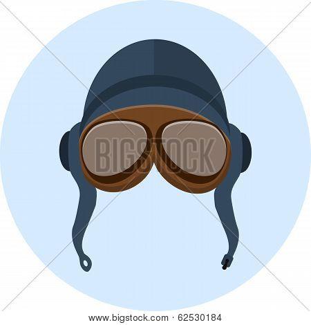 Retro helmet and goggles
