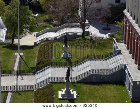 Escadas de casa do estado de Massachusetts