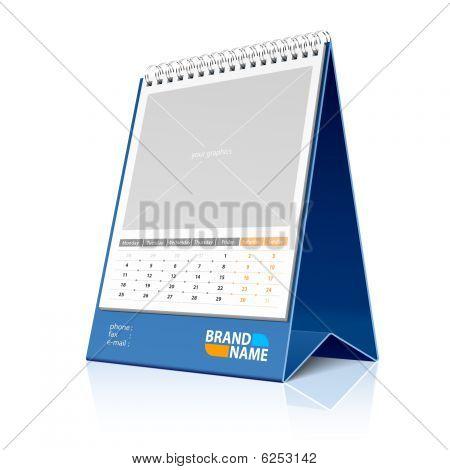 Desktop calendar. Vector.