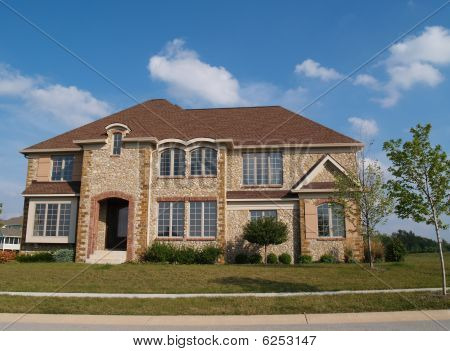 Two Story Stone Residential Home