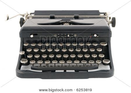 Black Antique Typewriter Front View