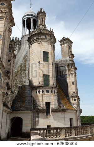 The royal Castle of Chambord in Cher Valley France