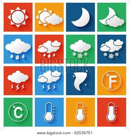 Weather Forecast Icons Set