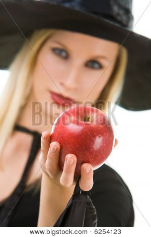 Woman Giving Apple