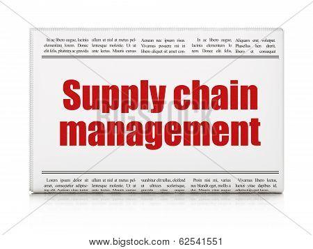 Marketing concept: newspaper headline Supply Chain Management