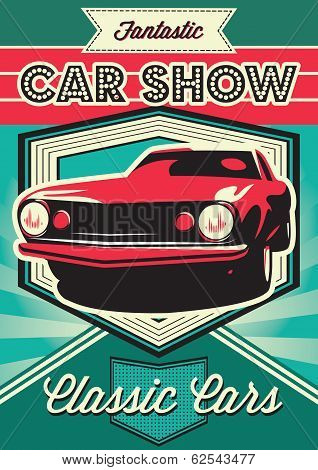 Poster For The Exhibition Of Cars