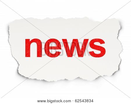 News on Paper background