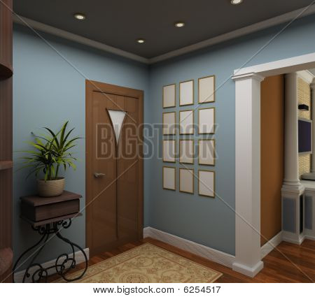 3D Render Interior of Vestibül