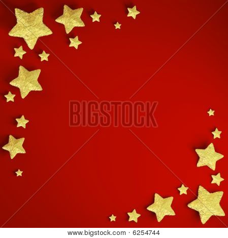 Christmas Frame Background With Stars