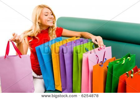 Looking Through Shoppingbags