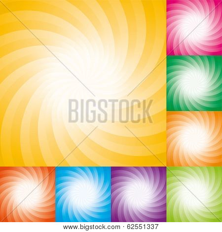 Vector Set Of Abstract Star Burst Backgrounds