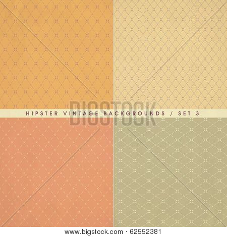 Hipster Vintage Retro Backgrounds Set